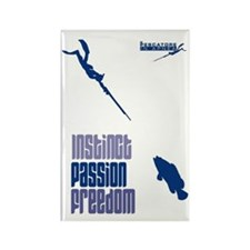 Il pescatore in apnea big Rectangle Magnet