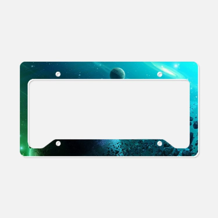 Galaxy of blue. License Plate Holder