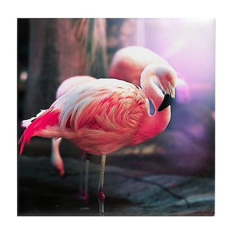 Beautiful Flamingo Tile Coaster