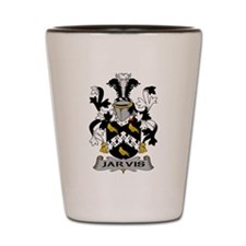 Jarvis Family Crest Shot Glass