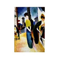 August Macke - Two Women in Front Rectangle Magnet
