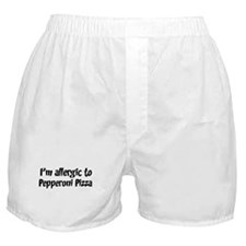 Allergic to Pepperoni Pizza Boxer Shorts