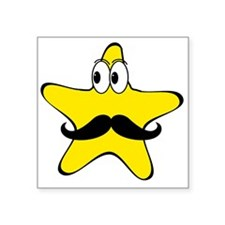 Mustache Star Cartoon Sticker