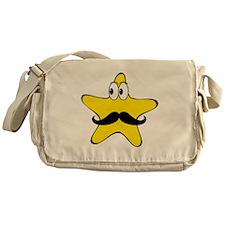 Mustache Star Cartoon Messenger Bag
