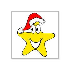 Santa Hat Star Cartoon Sticker