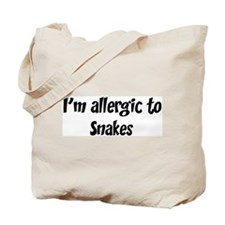 Allergic to Snakes Tote Bag