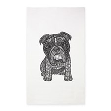 Bulldog 3'x5' Area Rug