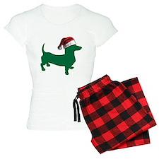Christmas Green Dachshund Pajamas