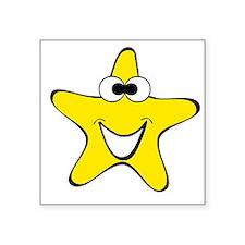 Cross Eyes Star Cartoon Sticker