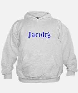 Blue Jacob Name Hoodie