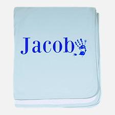 Blue Jacob Name baby blanket