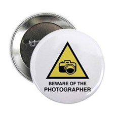 "Beware Of The Photographer 2.25"" Button (10 pack)"