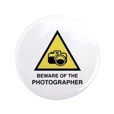 """Beware Of The Photographer 3.5"""" Button (100 pack)"""
