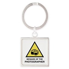 Beware Of The Photographer Square Keychain