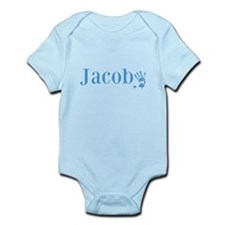 Blue Jacob Name Body Suit