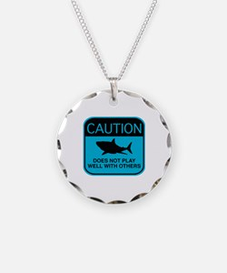 Caution - Does Not Play Well With Others Necklace