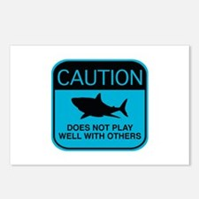 Caution - Does Not Play Well With Others Postcards