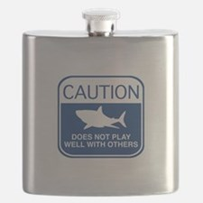 Caution - Does Not Play Well With Others Flask