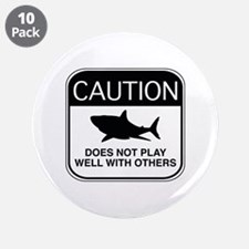 "Caution - Does Not Play Well With Others 3.5"" Butt"