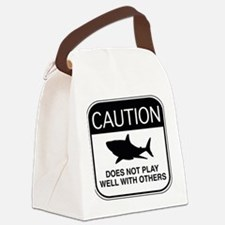 Caution - Does Not Play Well With Others Canvas Lu