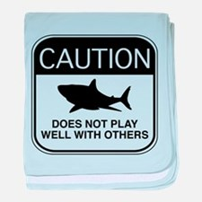 Caution - Does Not Play Well With Others baby blan