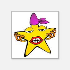 Pierced Star Cartoon Sticker