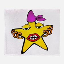 Pierced Star Cartoon Throw Blanket
