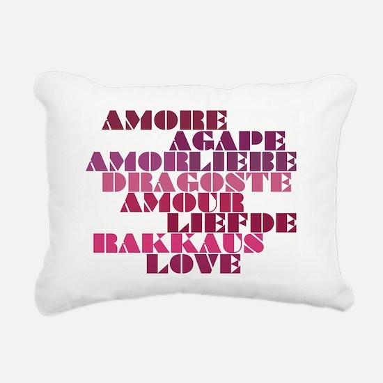 Shades of Love Rectangular Canvas Pillow