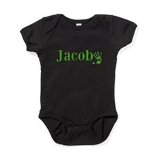 Green Jacob Name Baby Bodysuit