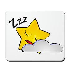 Sleeping Star Cartoon Mousepad