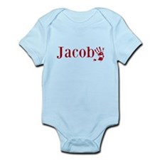 Red Jacob Name Body Suit
