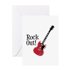 Rock Out Greeting Cards