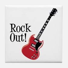 Rock Out Tile Coaster