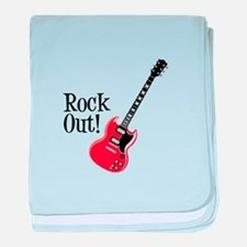 Rock Out baby blanket