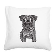Pug Love Square Canvas Pillow