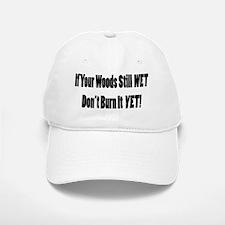 Wet Wood Baseball Baseball Cap