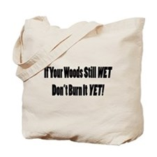 Wet Wood Tote Bag