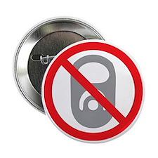 """No Pop Tabs! (Gray) 2.25"""" Button"""
