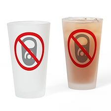 No Pop Tabs! (Gray) Drinking Glass