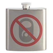 No Pop Tabs! (Gray) Flask