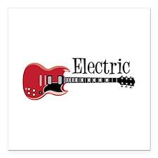 "Electric Square Car Magnet 3"" x 3"""