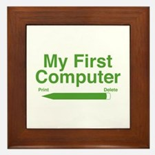 My First Computer Framed Tile