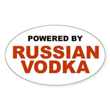 Powered by Russian Vodka Oval Decal