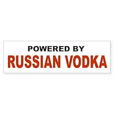 Powered by Russian Vodka Bumper Bumper Sticker