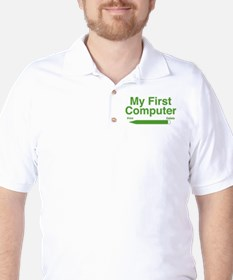 My First Computer Golf Shirt