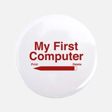 "My First Computer 3.5"" Button"