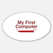My First Computer Sticker (Oval)