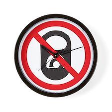 No Pop Tabs! (Black) Wall Clock