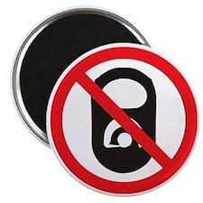 No Pop Tabs! (Black) Magnet