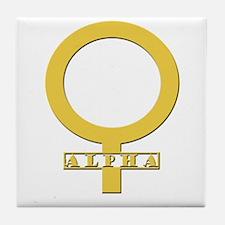 Alpha Female Tile Coaster